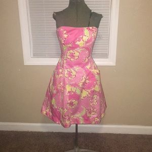 Lilly Pulitzer Pink and Yellow Floral Dress
